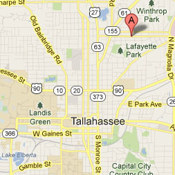 Map to Tallahassee Headquarters